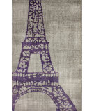 RugStudio presents Nuloom Hand Knotted Eiffel Dark Grey Hand-Knotted, Good Quality Area Rug