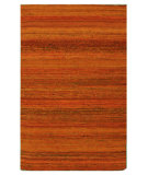 RugStudio presents Nuloom Flatweave Siena Sari Silk Orange Flat-Woven Area Rug