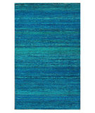 RugStudio presents Nuloom Flatweave Siena Sari Silk Light Blue Flat-Woven Area Rug