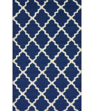 RugStudio presents Nuloom Hand Hooked Filigree Outdoor Navy Blue Hand-Hooked Area Rug