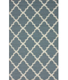 RugStudio presents Nuloom Hand Hooked Filigree Outdoor Light Blue Hand-Hooked Area Rug