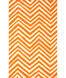 RugStudio presents Nuloom Hand Hooked Slant Chevron Orange Hand-Hooked Area Rug