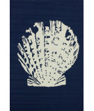 RugStudio presents Nuloom Hand Hooked Ocean Treasure Blue Hand-Hooked Area Rug