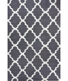 RugStudio presents Nuloom Contempo Modern Trelllis Charcoal Hand-Hooked Area Rug