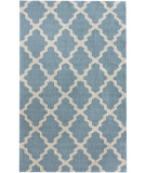 RugStudio presents Nuloom Contempo Modern Trelllis Light Blue Hand-Hooked Area Rug