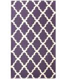 RugStudio presents Nuloom Contempo Modern Trelllis Purple Hand-Hooked Area Rug