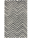 RugStudio presents Nuloom Contempo Zig Zag Charcoal Hand-Hooked Area Rug