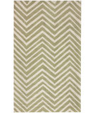 RugStudio presents Nuloom Contempo Zig Zag Green Hand-Hooked Area Rug