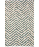 RugStudio presents Nuloom Contempo Zig Zag Light Blue Hand-Hooked Area Rug