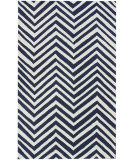 RugStudio presents Nuloom Contempo Zig Zag Navy Blue Hand-Hooked Area Rug