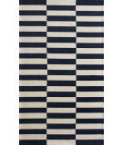RugStudio presents Nuloom Contempo Blocks Navy Hand-Hooked Area Rug