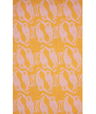 RugStudio presents Nuloom Hand Hooked Monkey See Monkey Do Orange Hand-Hooked Area Rug