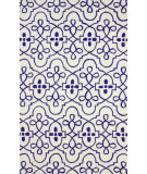 RugStudio presents Nuloom Hand Hooked Lace Medallion Blue Hand-Hooked Area Rug