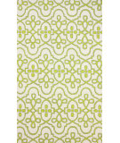 RugStudio presents Nuloom Hand Hooked Lace Medallion Green Hand-Hooked Area Rug