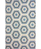 RugStudio presents Nuloom Hand Hooked Bloomfield Light Blue Hand-Hooked Area Rug