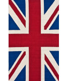 RugStudio presents Nuloom Hand Hooked Posh Union Jack Red Hand-Hooked Area Rug