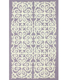 RugStudio presents Nuloom Hand Hooked Modern Damask Trellis Lilac Hand-Hooked Area Rug