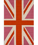 RugStudio presents Nuloom Hand Hooked Bubblegum Union Jack Bubble Gum Hand-Hooked Area Rug