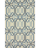 RugStudio presents Nuloom Hand Hooked Laos Blue Chip Hand-Hooked Area Rug