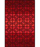 RugStudio presents Nuloom Hand Hooked Finestra Fire Red Hand-Hooked Area Rug