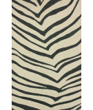 RugStudio presents Nuloom Hand Hooked Classic Zebra Ivory Hand-Hooked Area Rug
