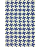 RugStudio presents Nuloom Hand Hooked Houndstooth Royal Blue Hand-Hooked Area Rug