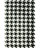 RugStudio presents Nuloom Hand Hooked Houndstooth Black Hand-Hooked Area Rug