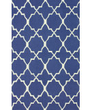 RugStudio presents Nuloom Hand Hooked Jayson Royal Blue Hand-Hooked Area Rug