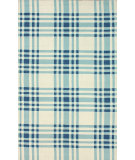 RugStudio presents Nuloom Hand Hooked Gingham Blue Hand-Hooked Area Rug