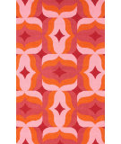 RugStudio presents Nuloom Hand Hooked Retro Red Multi Hand-Hooked Area Rug