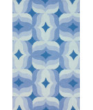 RugStudio presents Nuloom Hand Hooked Retro Blue Multi Hand-Hooked Area Rug