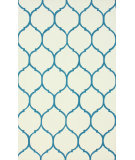 RugStudio presents Nuloom Hand Hooked Honeycomb Blue Hand-Hooked Area Rug