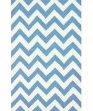 RugStudio presents Nuloom Hand Tufted Meredith Chevron Blue Hand-Tufted, Good Quality Area Rug