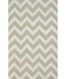 RugStudio presents Nuloom Hand Tufted Meredith Chevron Beige Hand-Tufted, Good Quality Area Rug