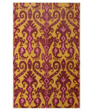 RugStudio presents Nuloom Hand Tufted Aster Ikat Gold Hand-Tufted, Good Quality Area Rug