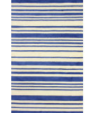 RugStudio presents Nuloom Hand Tufted Side Lines Blue Hand-Tufted, Good Quality Area Rug