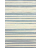 RugStudio presents Nuloom Hand Tufted Side Lines Dusk Blue Hand-Tufted, Good Quality Area Rug