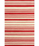 RugStudio presents Nuloom Hand Tufted Side Lines Red Hand-Tufted, Good Quality Area Rug