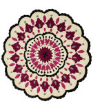 RugStudio presents Nuloom Hand Tufted Aster Pink Hand-Tufted, Good Quality Area Rug