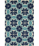 RugStudio presents Nuloom Hand Tufted Hacienda Tiles Blue Hand-Tufted, Good Quality Area Rug