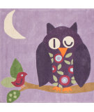RugStudio presents Nuloom Hand Tufted Hoot Purple Hand-Tufted, Good Quality Area Rug