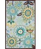 RugStudio presents Nuloom Hand Tufted Bloomfield Blue Hand-Tufted, Good Quality Area Rug
