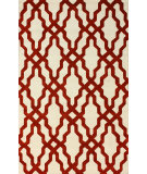 RugStudio presents Nuloom Hand Hooked Viv Plush Red Hand-Hooked Area Rug
