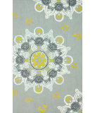 RugStudio presents Nuloom Hand Hooked Ian Light Grey Hand-Hooked Area Rug