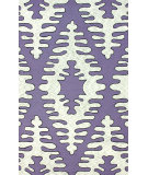 RugStudio presents Nuloom Hand Hooked Fishbone Purple Hand-Hooked Area Rug
