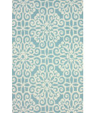 RugStudio presents Nuloom Hand Hooked Cotton Light Blue Hand-Hooked Area Rug