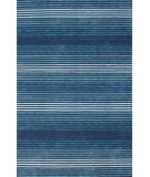 RugStudio presents Nuloom Hand Hooked Brushed Blue Hand-Hooked Area Rug