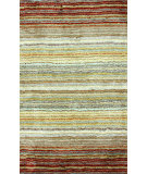 RugStudio presents Nuloom Hand Tufted Streaked Shaggy Red Multi Area Rug