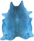 RugStudio presents Nuloom Hand Made Blu Cowhide Blue Area Rug