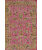 RugStudio presents Nuloom Hand Knotted Darius Fuschia Hand-Knotted, Good Quality Area Rug